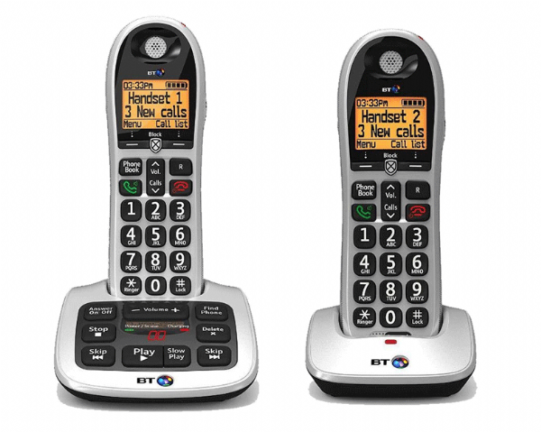 BT 4600 Twin Advanced Nuisance Call Blocker Big Button Digital Cordless Phone